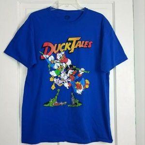 Disney Ducktales Graphic T Shirt L Blue Scrooge